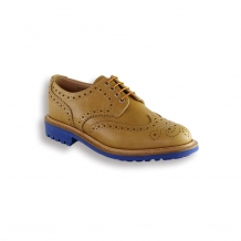 Almond Waxy Country Brogue - Blue Commando Sole