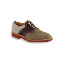 Crazy Mix Saddle Shoe - Red Brick Sole