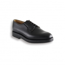 Black Waxy Wholecut Derby Shoe - Crepe Sole Unit