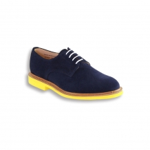 Navy Suede Plain Buck - Yellow Brick Sole