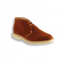 Burnt Orange Suede Chukka Boot - Crepe Sole
