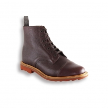 Brown Army Grain Toe Cap Boot - Red Rubber Ridgeway Sole