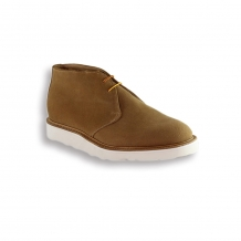 Camel Suede Chukka Boot - White Vibram Sole