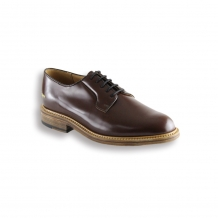 Tan Wholecut Derby Shoe - Leather Sole