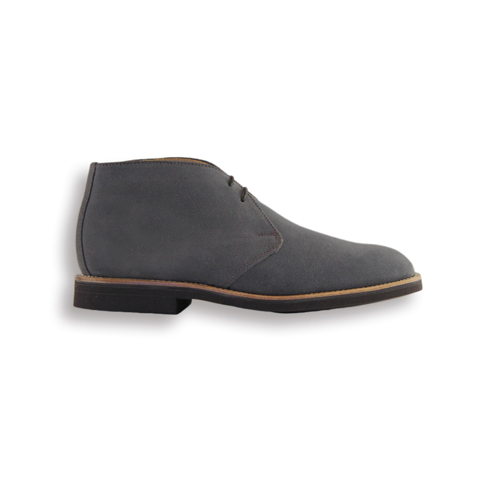 Grey Suede Chukka Boot - Brown Brick Sole
