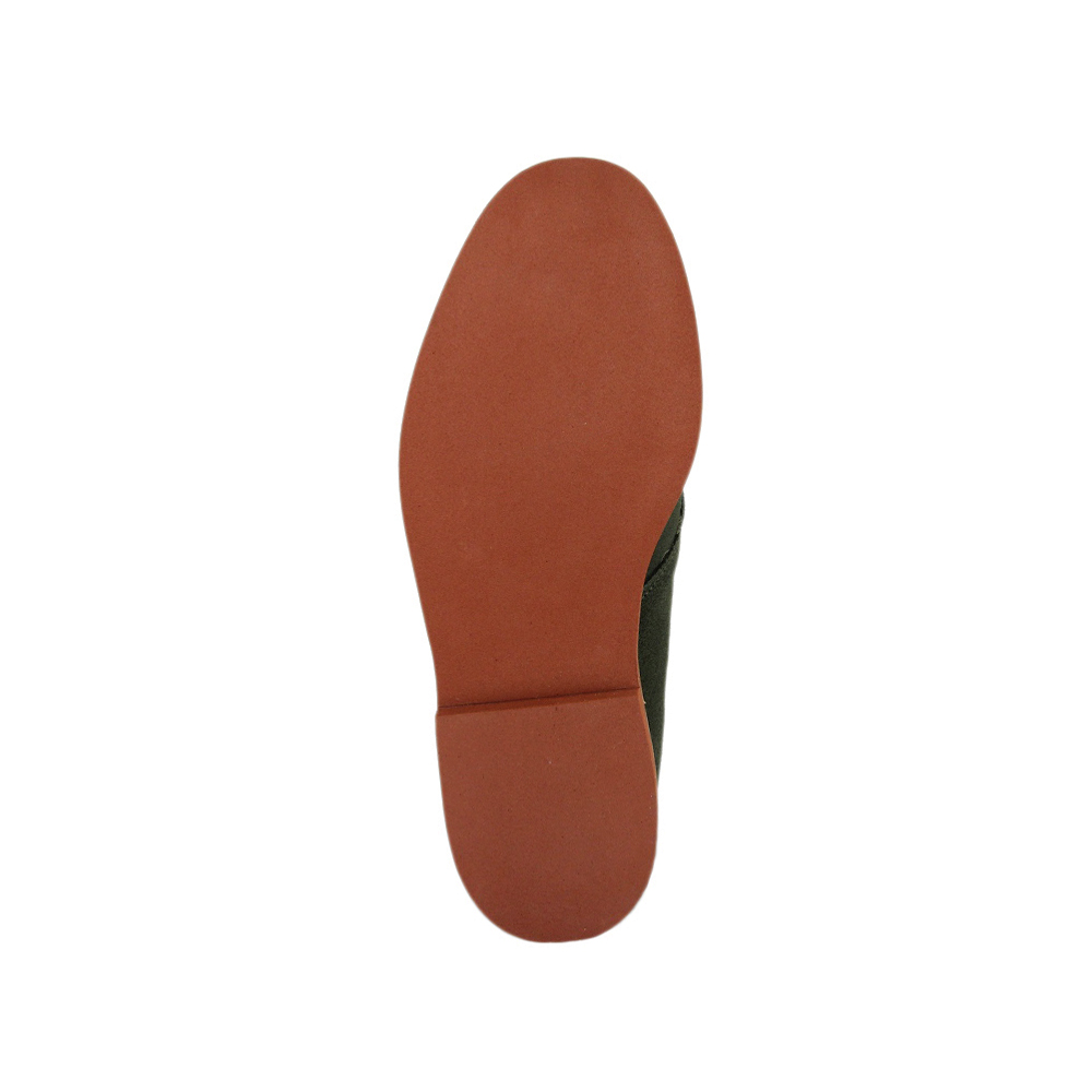 Green Suede Chukka Boot - Red Brick Sole